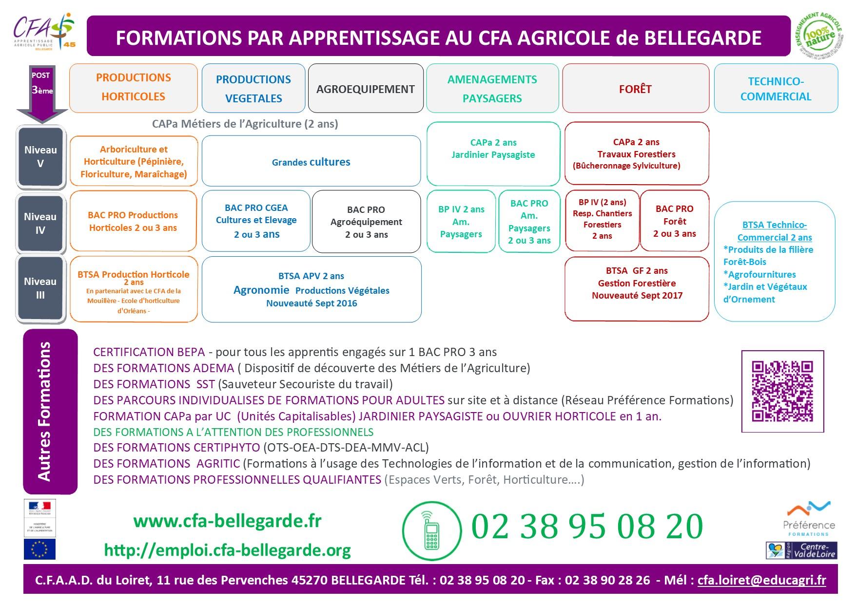 Calendrier Cfa 2020 2019.Formations Du Cfa De Bellegarde 45